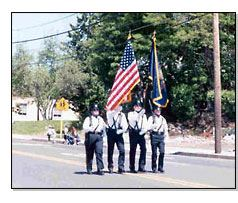 Honor Guard walking down street