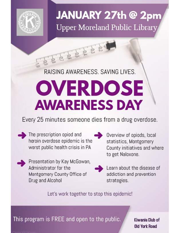 Overdose Awareness Day, Jan 27, 2018