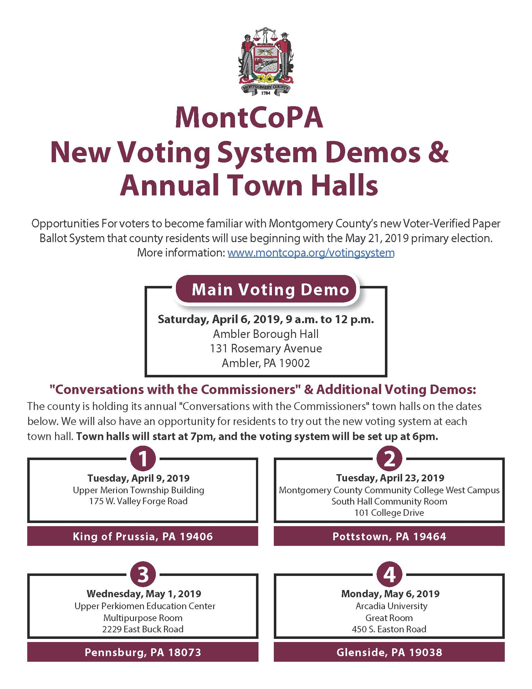 2019 Voting System Demo and Town halls