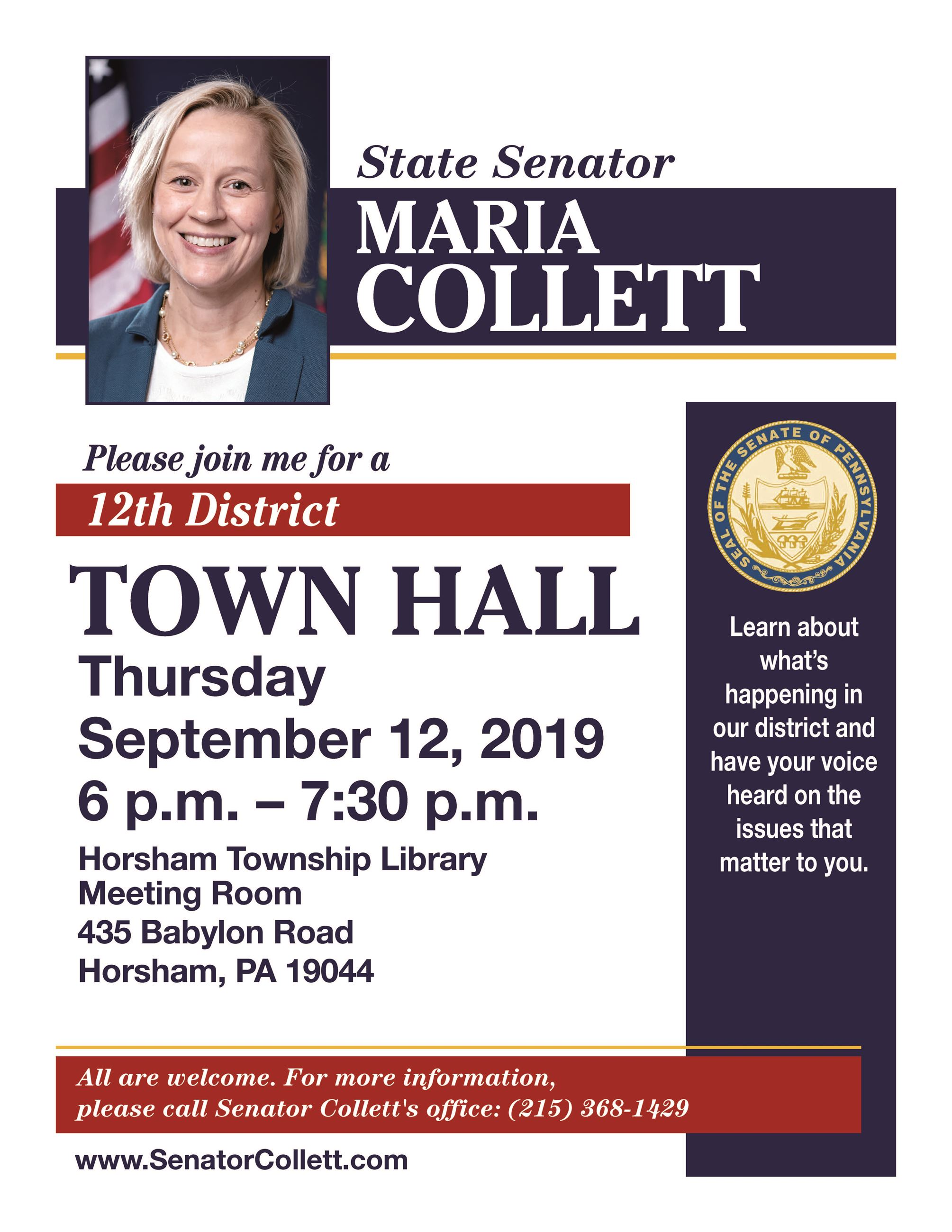 2019 Town_Hall_Collette_Sep19