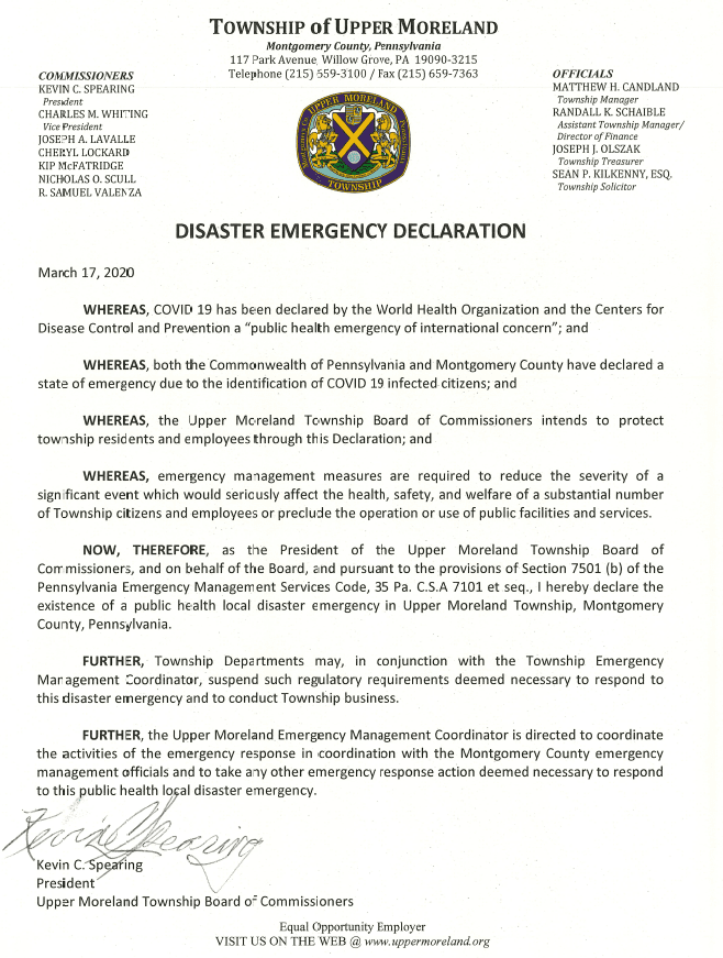 Disaster Emergency Declaration